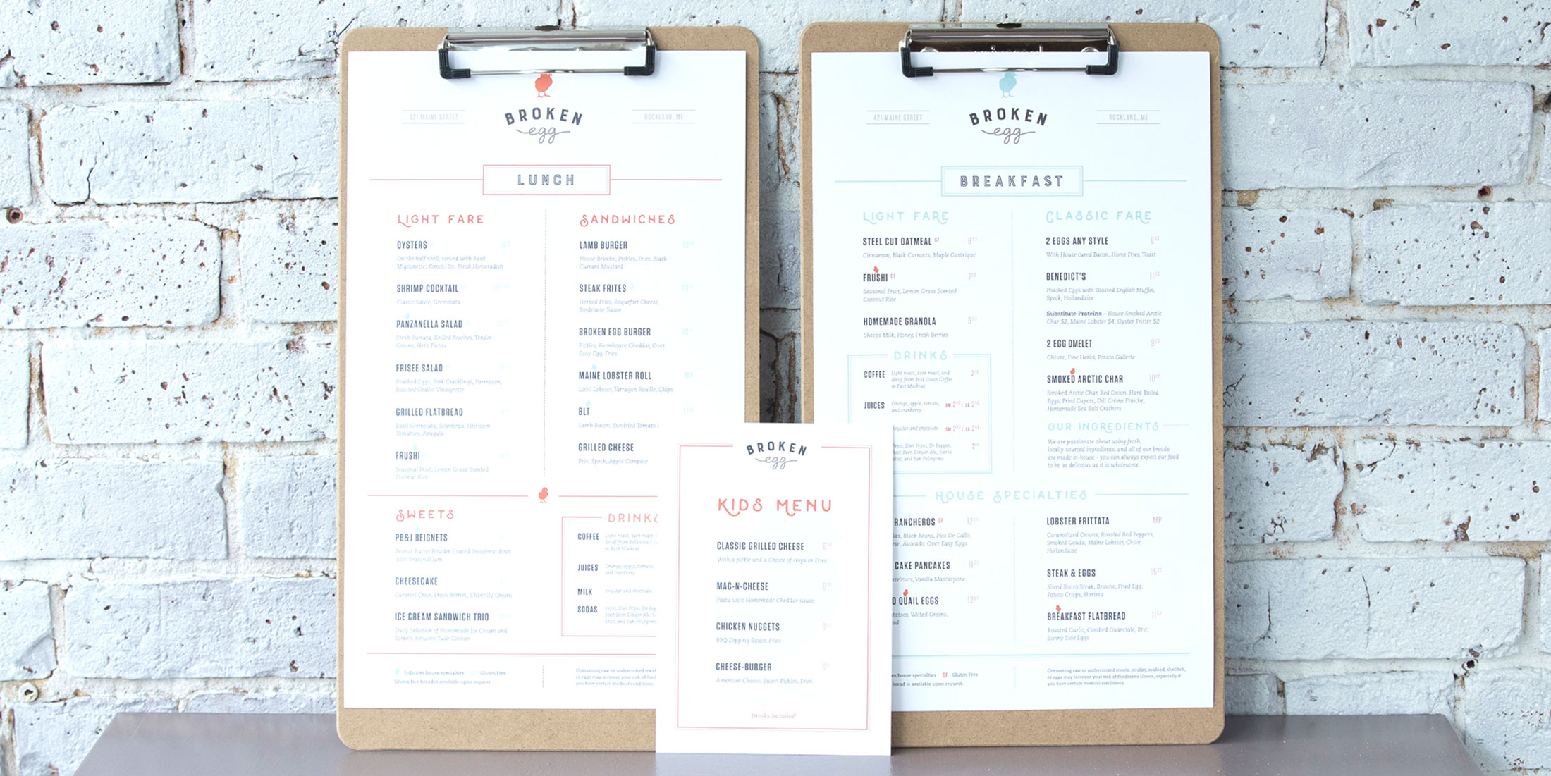Broken Egg Bistro Menu Design