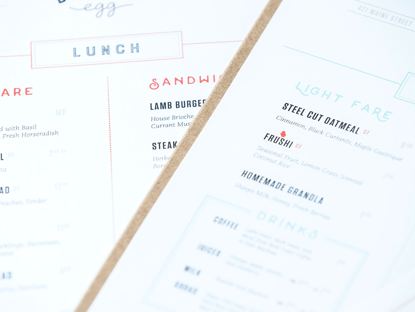 Restaurant Menu and Print Collateral Design